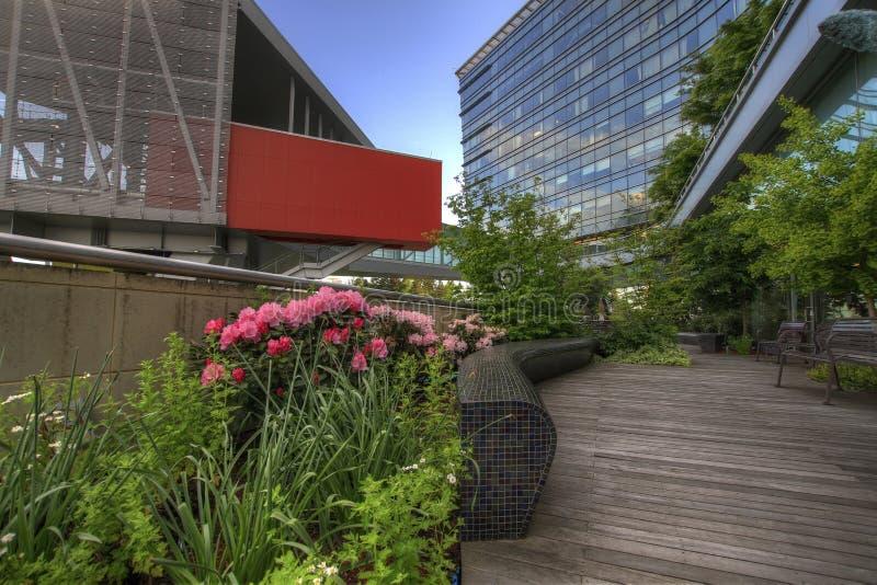 La città urbana ha modific il terrenoare il giardino fotografia stock libera da diritti