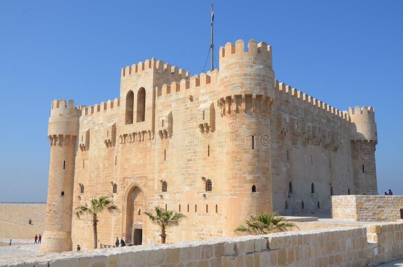 La cittadella di Qaitbay fotografia stock libera da diritti