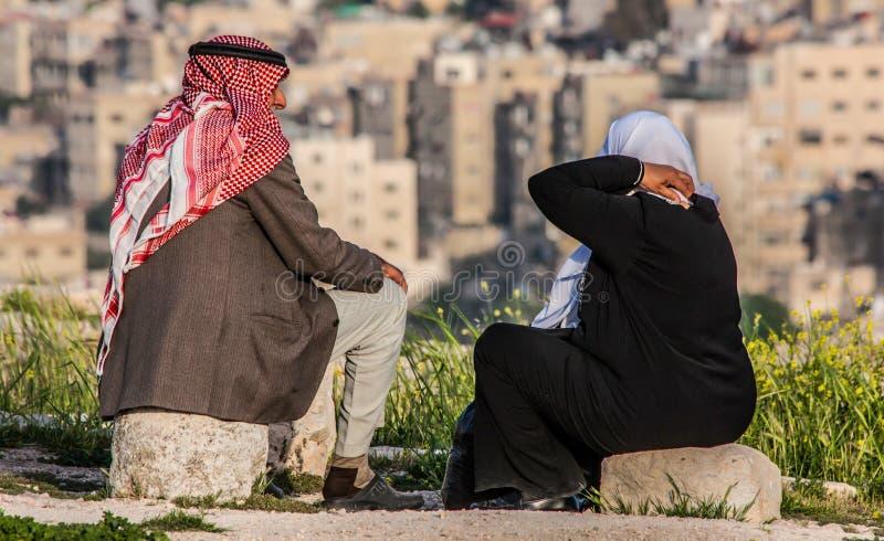 La cittadella storica di Amman, Giordania immagine stock