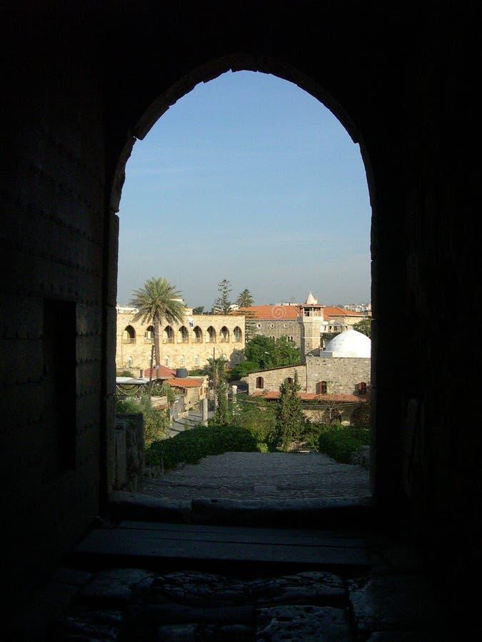 La ciudad antigua de Byblos imagen de archivo libre de regalías
