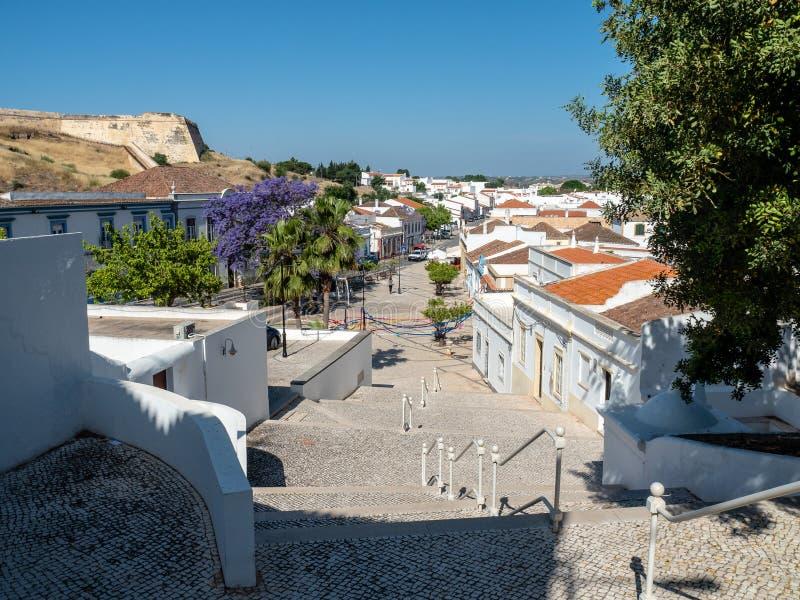 La ciudad antigua de Castro Marim imagen de archivo libre de regalías