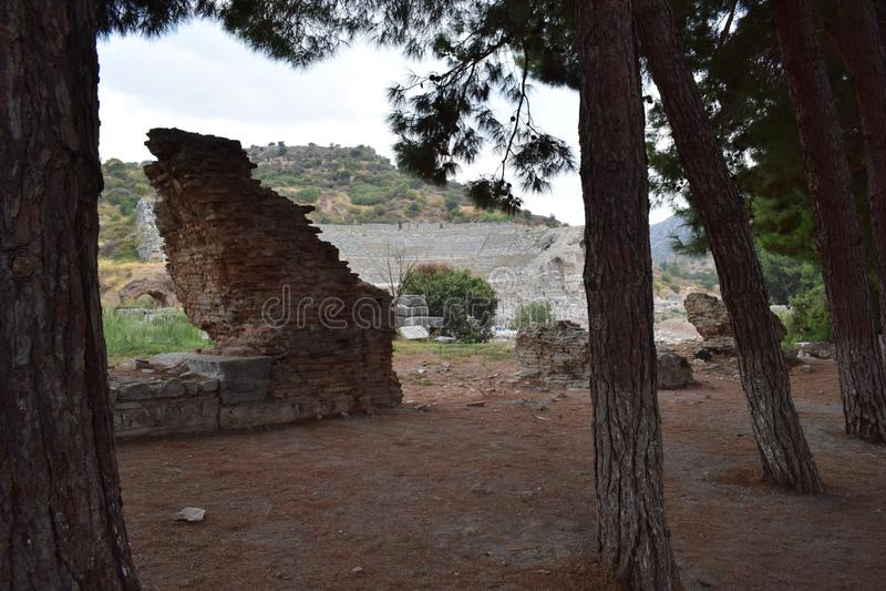 la ciudad antigua del ephesus fotografía de archivo