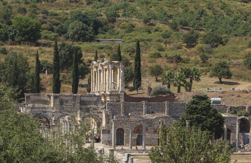 la ciudad antigua del ephesus imagen de archivo