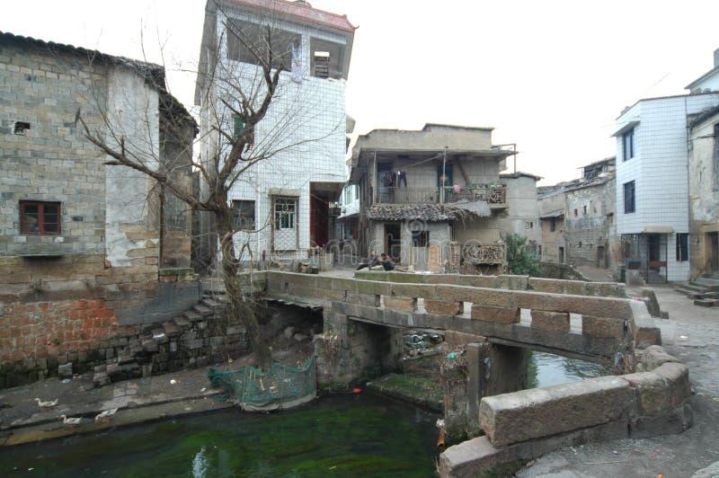 La ciudad antigua del puente-Hekou imagenes de archivo