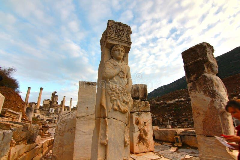La ciudad antigua Ephesus, Turquía fotografía de archivo