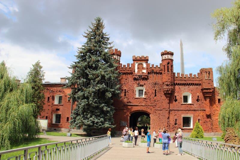 La ciudad de Brest en la fortaleza de Bielorrusia 'Brest ' La puerta de Terespol fotos de archivo