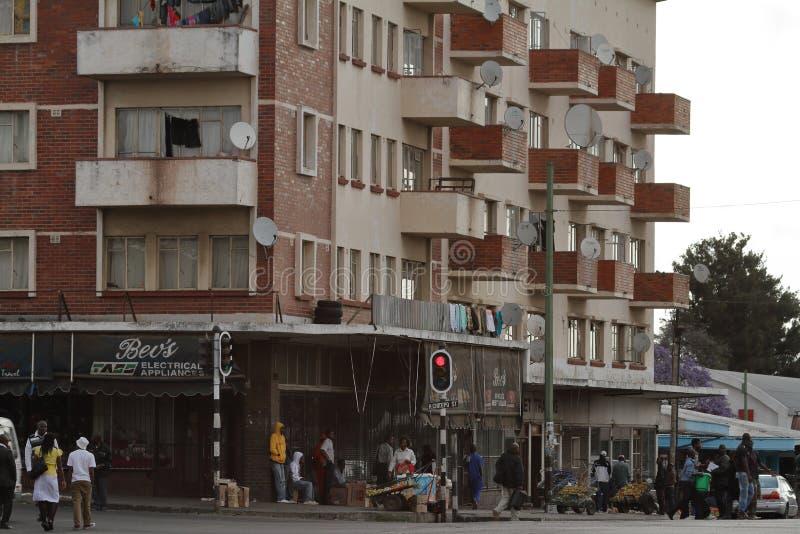 La ciudad de Bulawayo en Zimbabwe fotos de archivo libres de regalías
