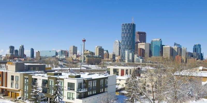 La ciudad de Calgary fotos de archivo libres de regalías