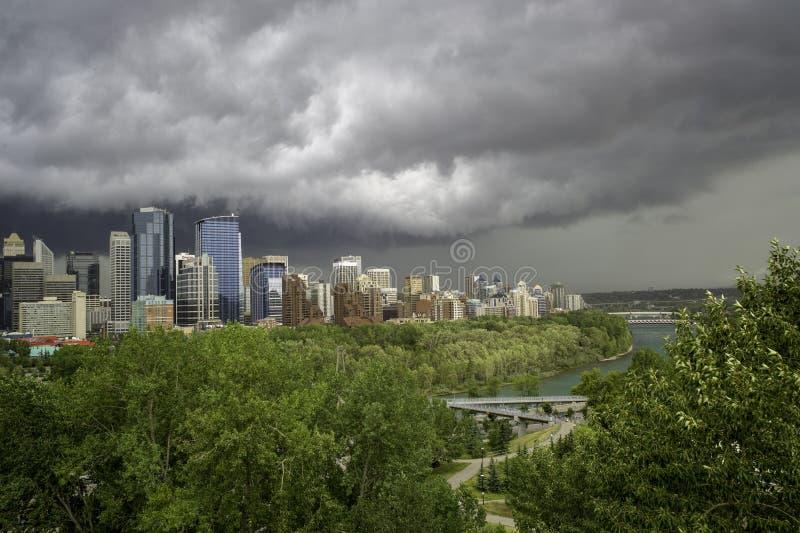 La ciudad de Calgary Alberta Canada foto de archivo
