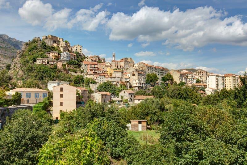 La ciudad de Corte en Córcega - Francia foto de archivo libre de regalías