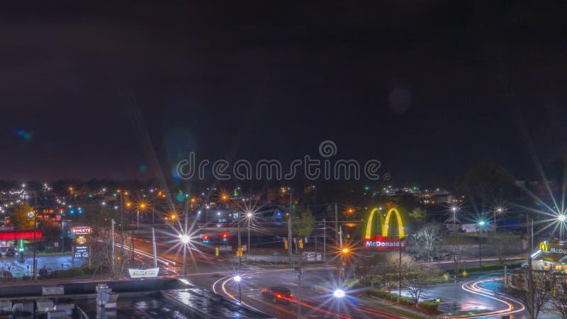 La ciudad de Greenville fotografía de archivo