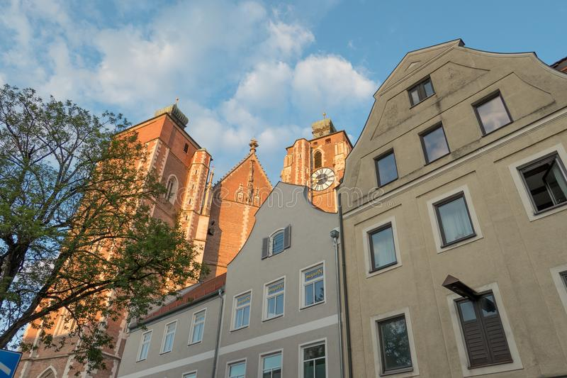 La ciudad de Ingolstadt en Alemania imagenes de archivo