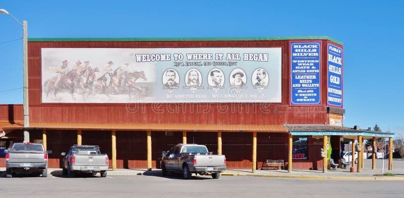 La ciudad de la fiebre del oro de Custer en el Black Hills de Dakota del Sur fotos de archivo libres de regalías