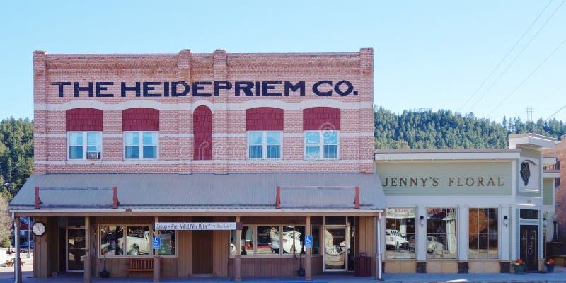 La ciudad de la fiebre del oro de Custer en el Black Hills de Dakota del Sur foto de archivo libre de regalías
