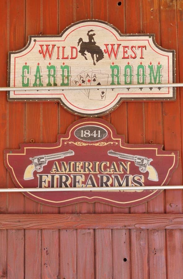 La ciudad de la fiebre del oro de Custer en el Black Hills de Dakota del Sur imagen de archivo