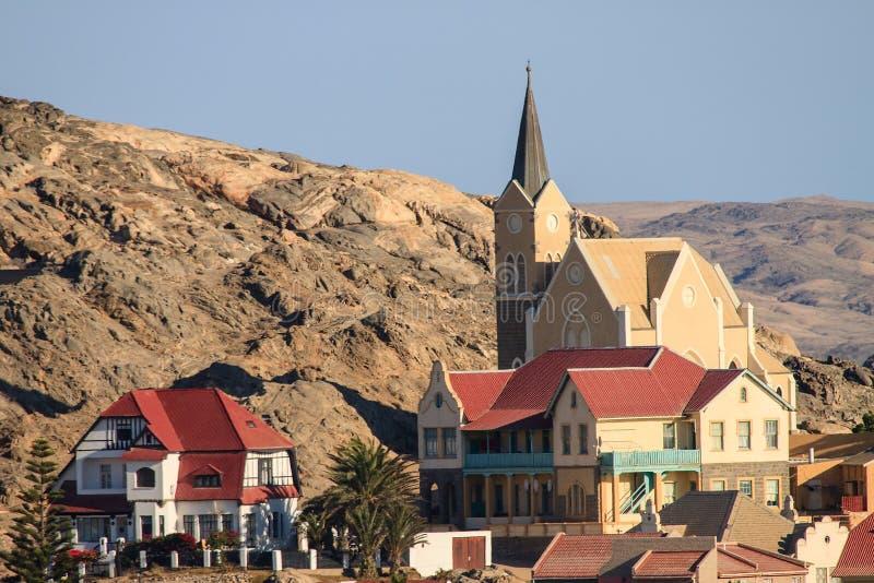 La ciudad de Luderitz, Namibia fotografía de archivo