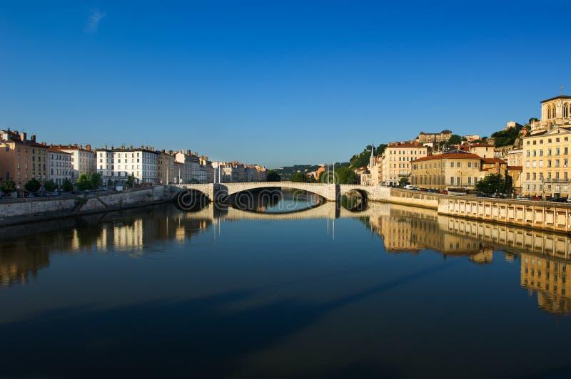 La ciudad de Lyon en Francia fotos de archivo libres de regalías