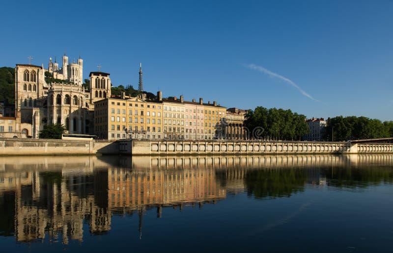 La ciudad de Lyon, Francia foto de archivo