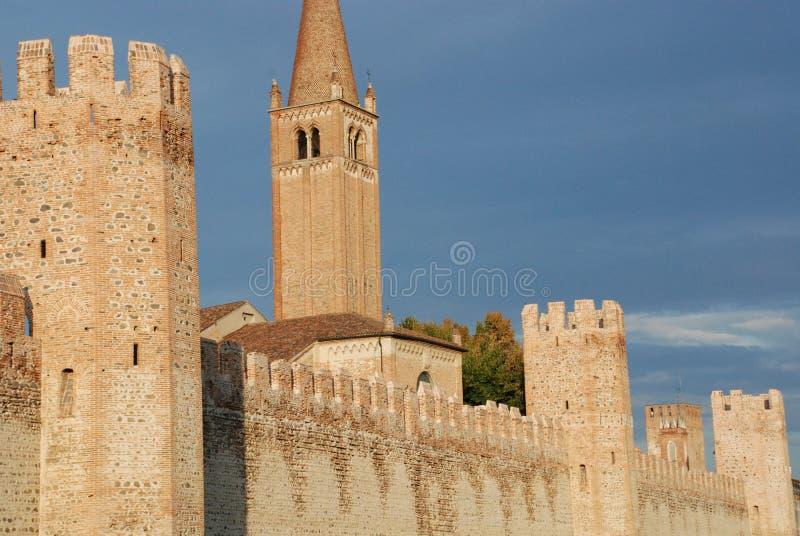 La ciudad de Montagnana empareda 1 fotos de archivo