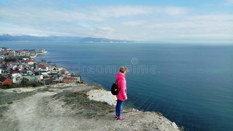 La ciudad de Novorossiysk Foto panor?mica Regi?n de Krasnodar imagen de archivo