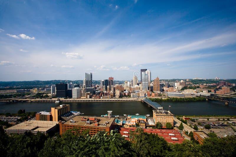 La ciudad de Pittsburgh imágenes de archivo libres de regalías