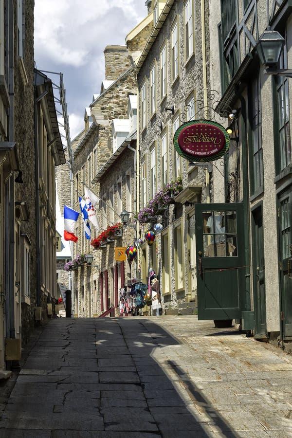 La ciudad de Quebec vieja imagenes de archivo