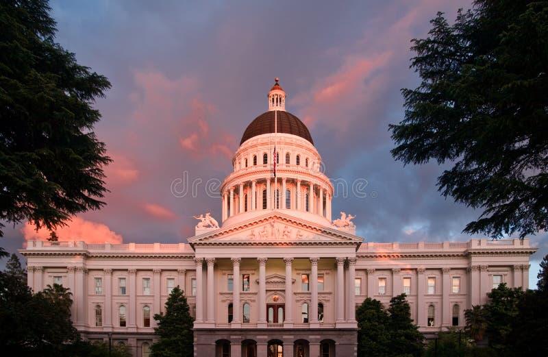 La ciudad de Sacramento California fotografía de archivo libre de regalías