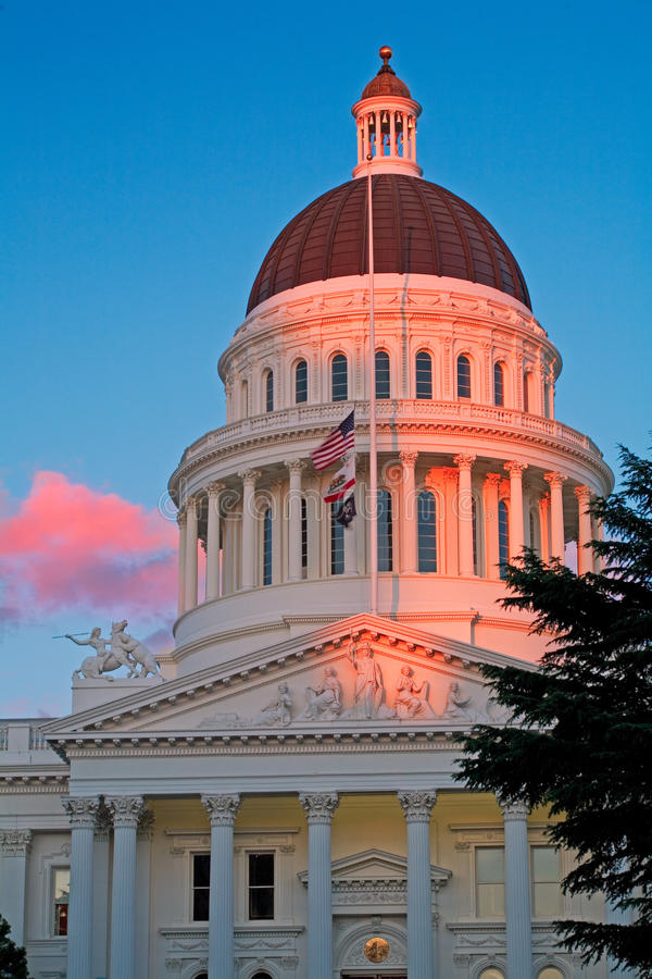 La ciudad de Sacramento California foto de archivo