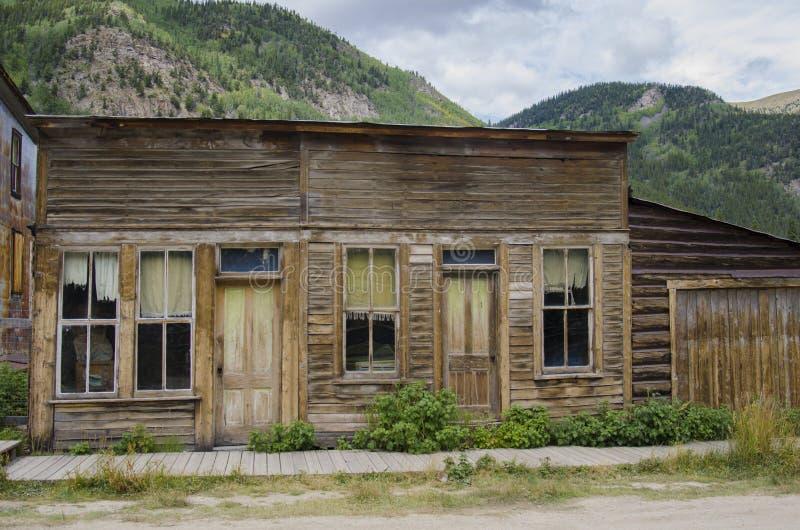 La ciudad de St Elmo en Colorado fotos de archivo