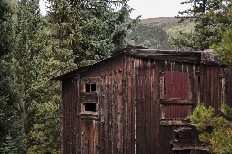 La ciudad de St Elmo en Colorado fotografía de archivo