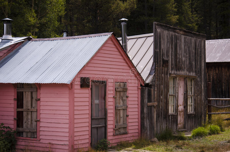 La ciudad de St Elmo en Colorado imagenes de archivo