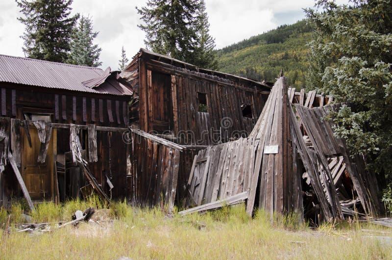 La ciudad de St Elmo en Colorado imagen de archivo