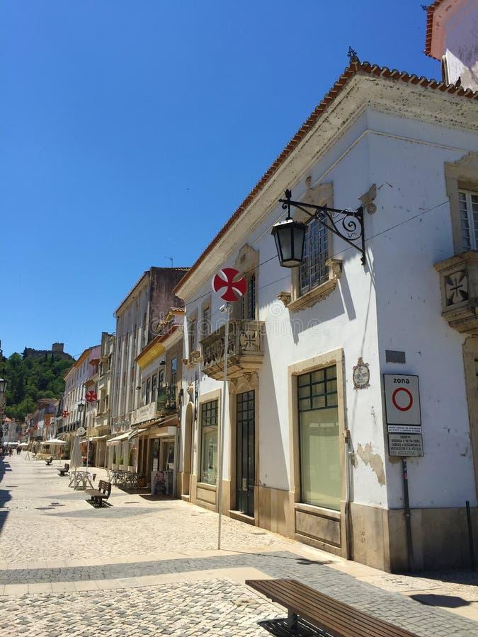 La ciudad de Tomar Portugal foto de archivo libre de regalías