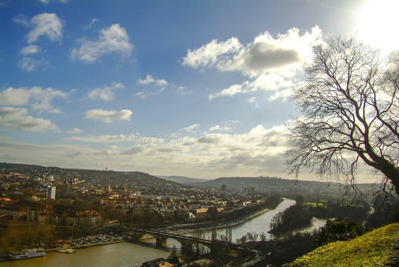 La ciudad de Wurzburg, Alemania imágenes de archivo libres de regalías