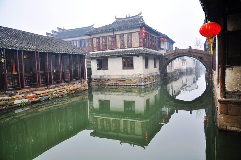 La ciudad del agua del No. 1 en el â Zhouzhuang de China imágenes de archivo libres de regalías