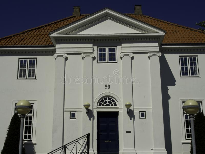 La ciudad del esbjerg en Dinamarca imagen de archivo