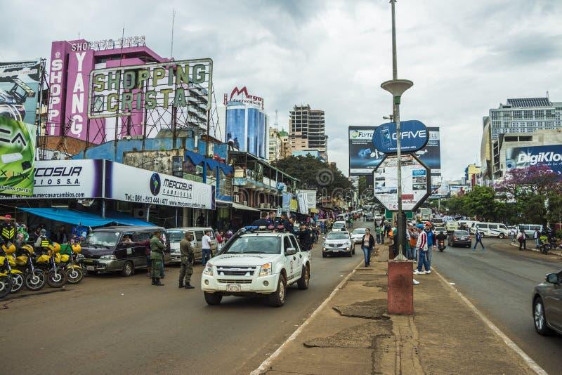 La Ciudad del Este - Paraguay fotografía de archivo