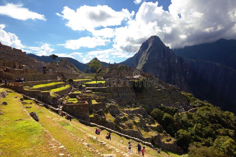 La ciudad del inca de Machu Picchu imagenes de archivo