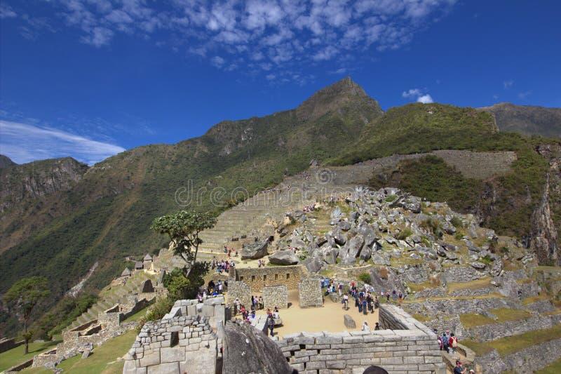 La ciudad del inca de Machu Picchu en Perú fotos de archivo libres de regalías