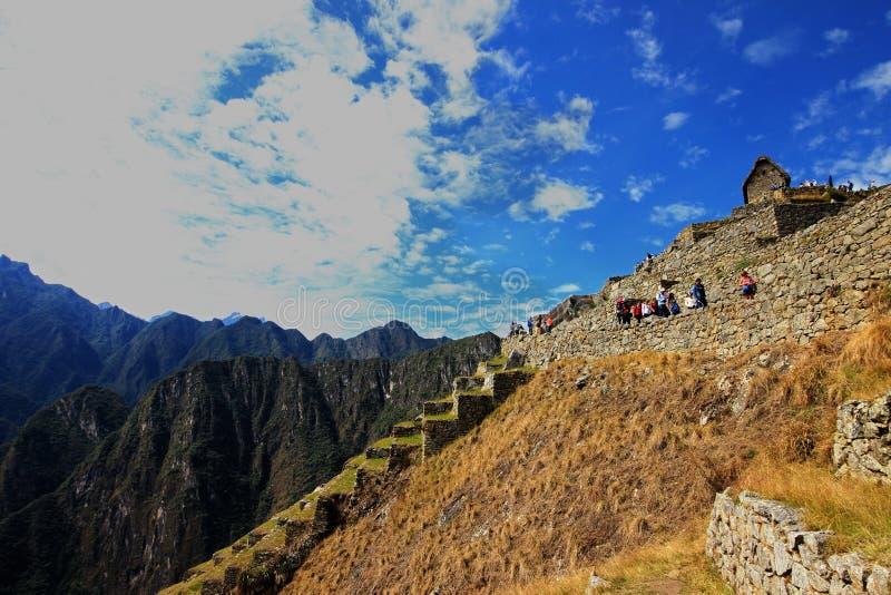 La ciudad del inca de Machu Picchu en Perú foto de archivo libre de regalías