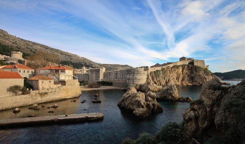 La ciudad emparedada vieja, Dubrovnik, Croatia imagen de archivo libre de regalías