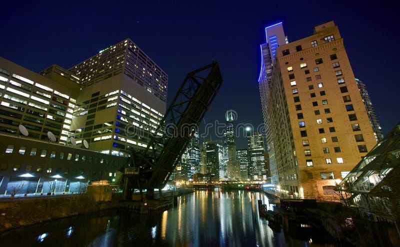 La ciudad enciende Chicago imágenes de archivo libres de regalías
