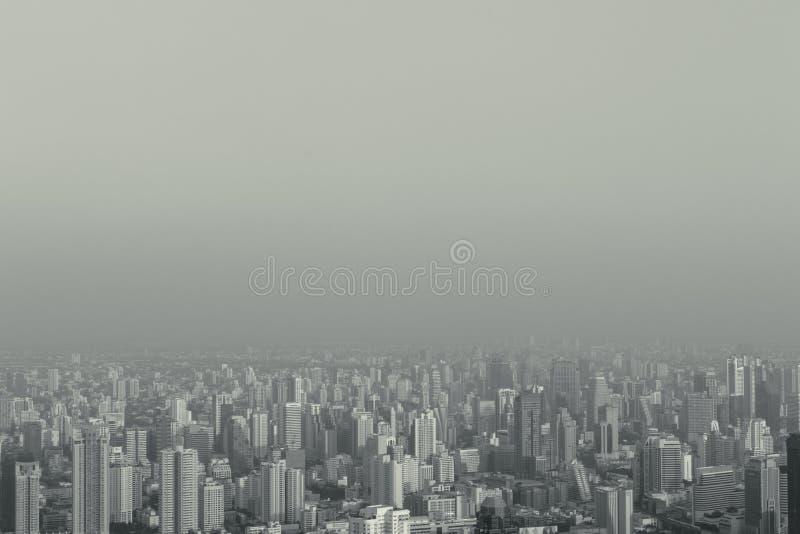 La ciudad grande de niebla estilizada inconformista abstracto de la visión superior puede utilizar para el fondo con el copyspace foto de archivo