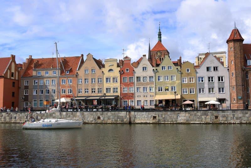 La ciudad hermosa de la ciudad vieja de Gdansk, Polonia foto de archivo