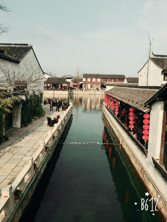 la ciudad histórica de Dangkou foto de archivo libre de regalías