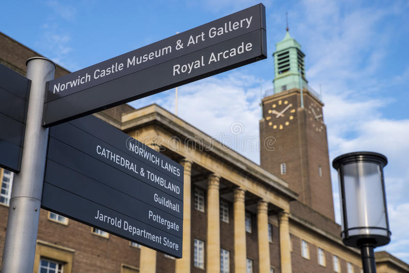 La ciudad histórica de Norwich fotografía de archivo