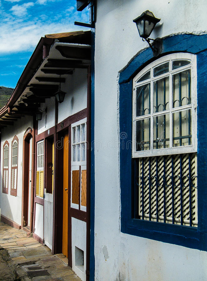 La ciudad histórica de Ouro Preto - Minas Gerais - el Brasil fotografía de archivo libre de regalías