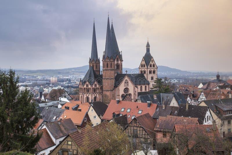 la ciudad histórica gelnhausen Alemania foto de archivo