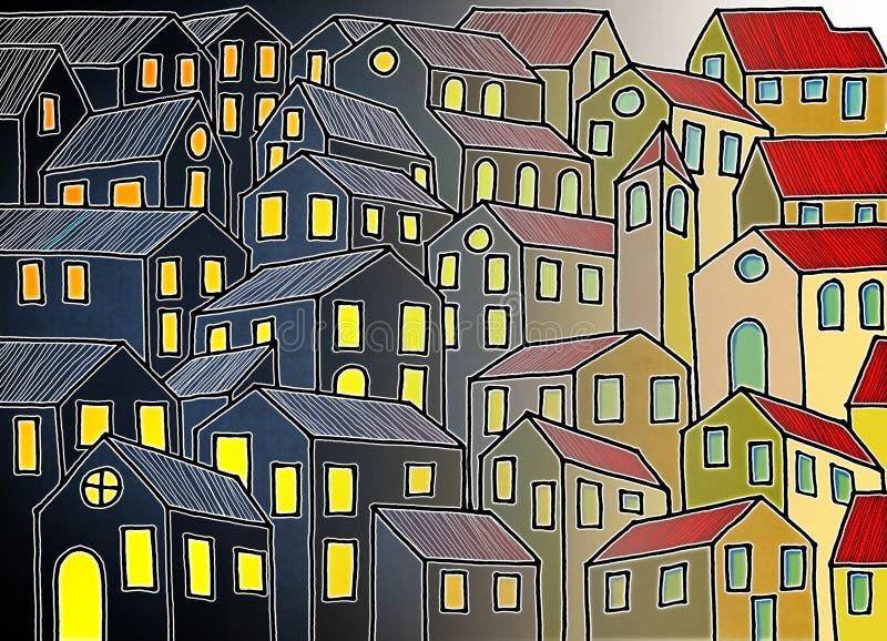 La ciudad imaginaria inspir? por las ciudades toscanas viejas - el ` m de I que el propietario de los derechos de autor de las im foto de archivo