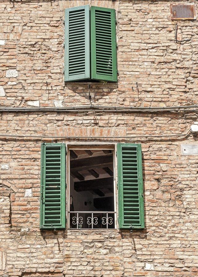 La ciudad italiana de Siena es el rival eterno de Florencia fotos de archivo libres de regalías
